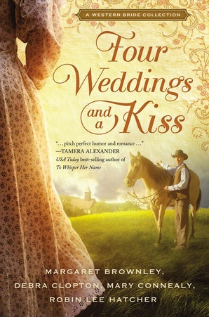 Four Weddings and a Kiss Paperback  by Margaret Brownley