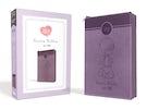 Santa Biblia Precious Moments NVI Angelitos, Ultrafina Compacta Púrpura con cierre