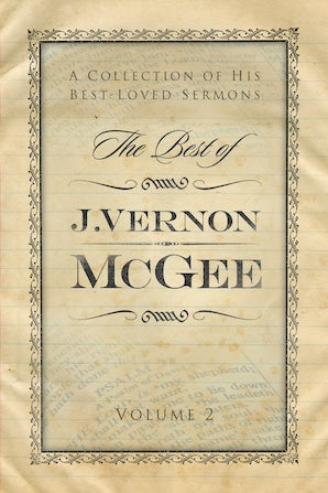 The Best of J. Vernon McGee book image