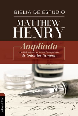 RVR Biblia de Estudio Matthew Henry, Tapa Dura, con índice